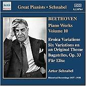 Piano Works Vol. 10 - Eroica Variations (Schnabel), , New CD