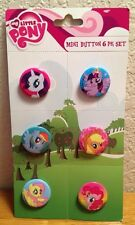 My Little Pony & Friends Mini Button Pin Set 6 Pack New