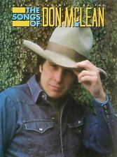 Songs of Don McLean Songbook Sheet Music Song Book