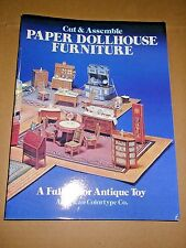 Cut and Assemble Paper Dollhouse Furniture by Staff American Colortype Co....