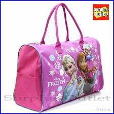 Disney Frozen Elsa Anna Olaf Duffle Bag Travel GYM Bag Large Overnight Bag 20""