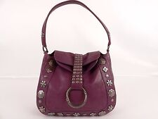 Moschino Cheap and Chic - Purple Leather Hobo Shoulder Bag Purse Handbag
