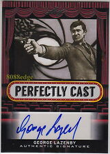 "2013 POP CENTURY AUTO: GEORGE LAZENBY #1/5 PERFECTLY CAST AUTOGRAPH ""JAMES BOND"""