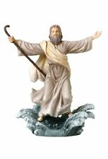 "9"" Moses Parting The Red Sea Statue Biblical Figurine Religious Sculpture Decor"