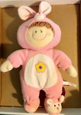 "RUSS BERRIE CLOTH BABY DOLL 13"" NWT BUNNY COSTUME VERY SOFT"