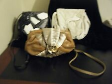 Lot of 3 VINTAGE 80's SHARIF Leather Handbags AWESOME SHAPE