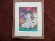 FRAMED disney princess art print girls bedroom picture cinderella wedding dress