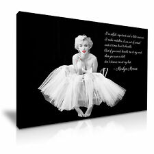 Marilyn Monroe Quote I'm Selfish Canvas Wall Art Picture Print A1 Size 76cmx50cm