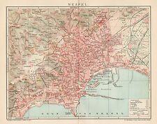 B6306 Napoli - Pianta della Città - Carta geografica antica del 1903 - Old map