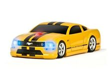 Roadmice Ford Mustang GT Yellow/Black 1600dpi Wireless Computer Mouse 2.4GHZ
