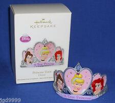 Hallmark Ornament Disney Princess Tiara 2012 Cinderella Belle Ariel Crown NIB