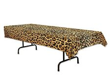 Jungle Safari LEOPARD Plastic TABLE COVER Party Decoration ANIMAL PRINT