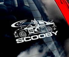 Scooby Impreza - Car Window Sticker - Subaru World Rally WRC STI WRX 555 Snax
