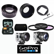 X43 WIDE ANGLE + 2.2X TELE  ZOOM LENS + 3 FILTERS + HARD CASE FOR GOPRO HERO5