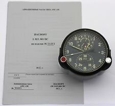 "Soviet 80's-made AirForce Cockpit Clock ACS-1M ""B"" / AChS-1M ""B"" for Su/MiG jets"