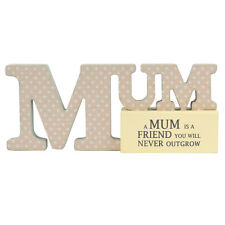 Special Mum Sentiments From The Heart Word Block Plaque Lovely Gifts Range