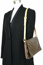 Auth Louis Vuitton Monogram Leather Canvas Musette Tango Shoulder bag Handbag
