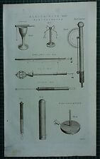 1786 PRINT ~ ELECTRICITY ELECTROMETER CANTONS HENLY'S QUADRANT ~ ATMOSPHERICAL
