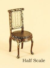 "Bespaq Dollhouse Miniature1/2"" SCALE  ""ANASTASIA"" VANITY CHAIR S-8046-NWNG"