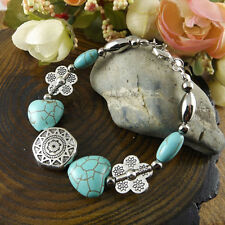 NEW Free shipping Jewelry Tibet silver jade turquoise bead DIY bracelet S269D