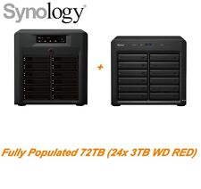 €4749+IVA SYNOLOGY DS3612XS NAS + DX1215 72TB (24x3TB WD RED) + E10G15-F1 10Gbit