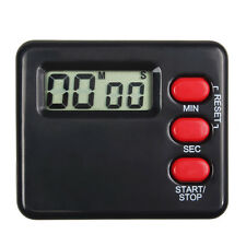 Küche Zeitschaltuhr 99 Minute Digital LCD Sport Countdown Calculator NEU Black