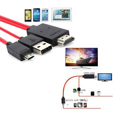 MHL Micro USB To HDMI 1080P HD TV Cavo e Adattatore For Samsung Galaxy S6 S5