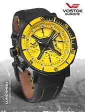 VOSTOK Europe Lunokhod 2 Yellow Multi-Function Black PVD 6204205 Tritium Diver