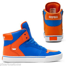 MEN'S SUPRA VAIDER SKATEBOARD SHOES ROYAL BLUE/ORANGE S28222 SIZE 6 NEW