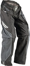NEW Fly Racing Patrol motocross MX BMX riding pants boys mens size 28 black gray