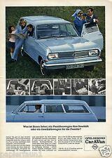Opel Rekord Caravan Reklame von 1966 Werbung Kombi Station Waggon Geschäftswagen