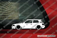 2x LOW Toyota Corolla GT Twin Cam AE94 (e90) lowered outline silhouette stickers