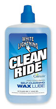 WHITE LIGHTNING Clean Ride - Bike Bicycle Self Cleaning Wax Drip Lube 8oz NEW!