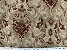 Drapery Upholstery Fabric Sussex Traditional Chenille Jacquard - Wine