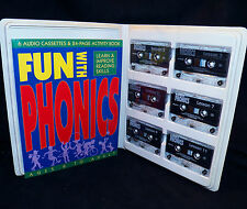 1994 Fun with Phonics Educational Reading Skills 6 Cassettes Activity Workbook