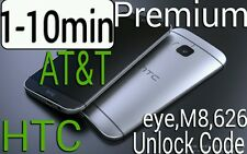 Unlock Code AT&T T-Mobile HTC One M8 Desire EYE 610 M7 8X 1-10 minutes  PREMIUM