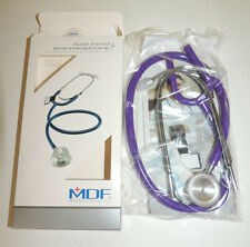 MDF 747 Adult MDF8 dual head STETHOSCOPE Purple Rain Purple - New In Box!