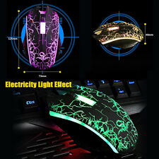 Gaming Maus Mouse 1200 DPI Optisch Kabel LED USB Funkmaus für PC Laptop Gamer DE