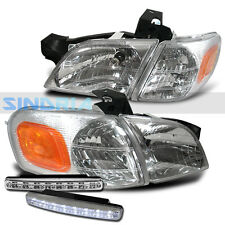 1997-20005 CHEVY VENTURE CHROME AMBER REPLACEMENT HEAD LIGHTS CORNER + DRL FOG