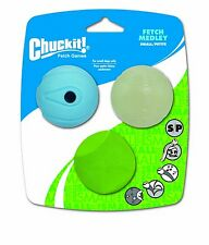 Chuckit FETCH BALL MEDLEY 2 inch Pack Small Dogs Toy inc. WhistlerErraticFetch
