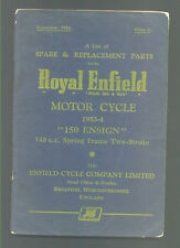 """ROYAL ENFIELD MOTOR CYCLE 1953-54 """"150 ENSIGN""""  148cc  SPARE & REPLACEMENT PARTS"""