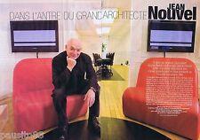 COUPURE DE PRESSE CLIPPING 2008 JEAN NOUVEL   (4 pages)
