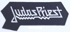 "Judas Priest Patch 4.5"" Embroidered Logo Iron on Badge Music Jacket Bag Black"