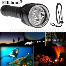 8000LM 3x T6 LED Linterna Buceo Submarinismo Submarina Flashlight Diving