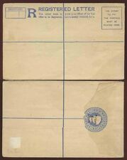 BRITISH EAST AFRICA on INDIA QV REGISTERED POSTAL STATIONERY MINT..FAULTS..H+G3a