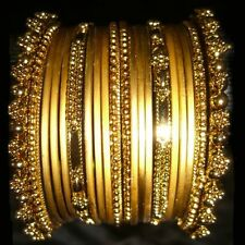 ARMREIFEN-Set, Indien- Bangles Armreif Bollywood-Schmuck Goa Hippie Messing Gold