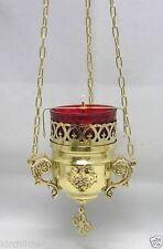 Sanctuaire Lampe à pétrole suspendu fait main laiton лампада подвесная латунь