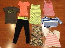JUNIOR WOMENS TANK TOPS TEES & LEGGINGS 8 ITEMS SIZE SMALL Aeropostale Delias ++