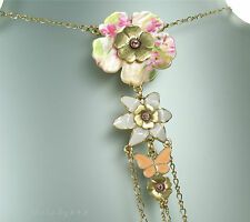 PILGRIM Flower Necklace Vintage Gold Pastel Mother-Of-Pearl PEARLY PETALS BNWT