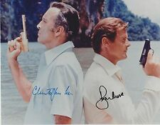 Roger Moore / Christopher Lee Autograph  , Original Hand Signed Photo